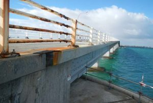 High Level Bridge guard rails